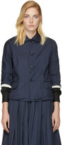 Comme des Garcons Navy Wool Twill Jacket