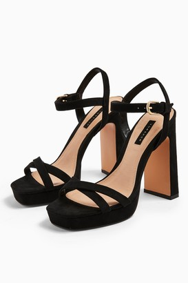 Topshop SIENNA Black Platform Shoes