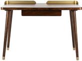 One Kings Lane Habner Desk - Espresso - espresso/gold
