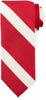 Peter Millar Striped Silk Tie, Geranium