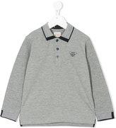 Armani Junior logo printed polo shirt