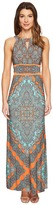 London Times Banded Halter Maxi Dress