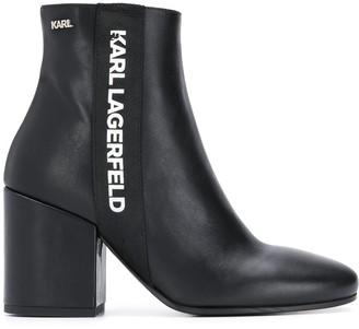 Karl Lagerfeld Paris logo printed ankle boots