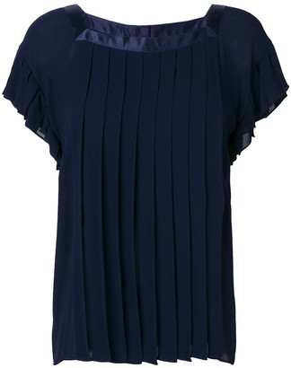 Yves Saint Laurent Pre Owned Pleated Loose Blouse
