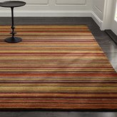 Crate & Barrel Gianni Rust Hand Knotted Wool Rug