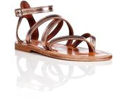 K. Jacques Metallic Leather Epicure Sandals