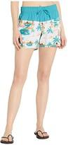 Roxy Sea Boardshorts (Bright White Honolulu) Women's Swimwear