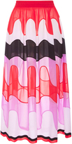 Emilio Pucci High Waist Retro Print Midi Skirt