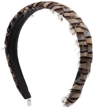 Gigi Burris Millinery Philipa Ash feather headband
