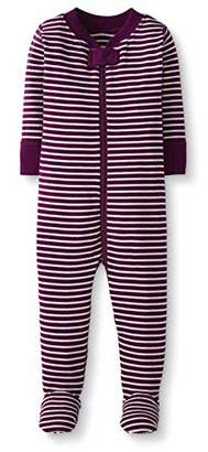 Moon and Back One Piece Footed Pajama Sleepers, Pink, 6-12 Months