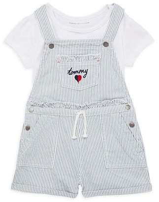 Tommy Hilfiger Little Girl's 2-Piece Overall T-Shirt Set