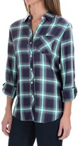 Foxcroft Rayon Herringbone Plaid Shirt - Long Sleeve (For Women)