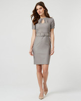 Le Château Viscose Blend Crew Neck Dress