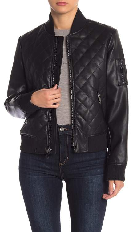 7aa554ad9 Diamond Quilted Bomber Jacket