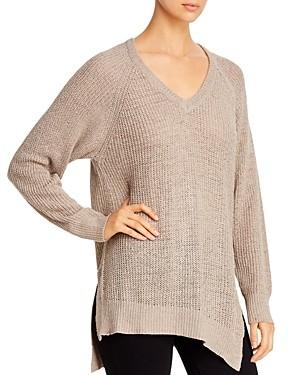 Elan International Asymmetric Side-Slit Sweater