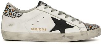 Golden Goose Superstar leopard-print trim sneakers