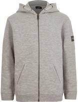 River Island Boys grey marl zip up hoodie