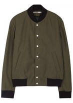 Kenzo Green Embroidered Shell Bomber Jacket