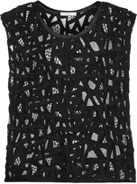 IRO Olpen embroidered mesh top
