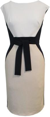 Sandra Darren Cap Sleeve Crepe Colorblock Dress