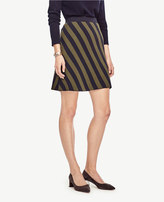 Ann Taylor Striped Jacquard Sweater Skirt