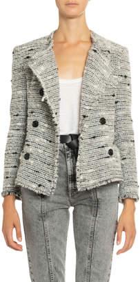 Etoile Isabel Marant Jorson Shawl-Collar Tweed Jacket