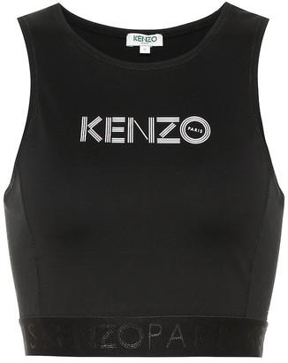 Kenzo Logo stretch-cotton crop top