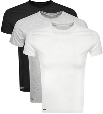 Lacoste Triple Pack T Shirts Grey