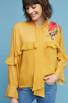 Anthropologie Zea Embroidered Top