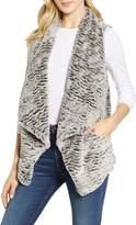 Wit & Wisdom Drape Faux Fur Vest