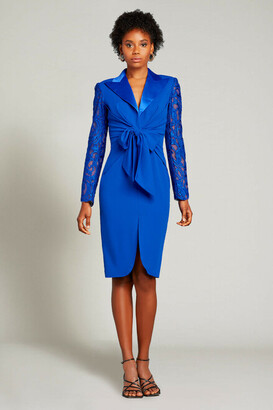 Tadashi Shoji Long Sleeve Slit Cocktail Dress
