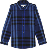 Burberry Fred check cotton shirt 4-14 years