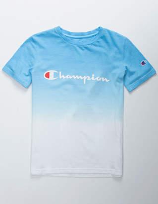 Champion Dip Dye Logo Blue Boys T-Shirt