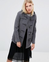 Gloverall Mid Slim Duffle Coat in Gray