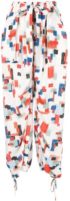 Rosetta Getty Geometric Print Harem Pants