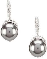 Nadri Pave-Capped Faux-Pearl Drop Earrings