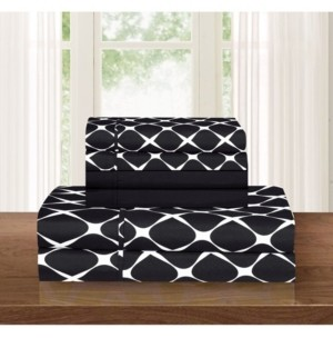 Elegant Comfort Bloomingdale 4-Piece Wrinkle Free Sheet Set Twin Bedding