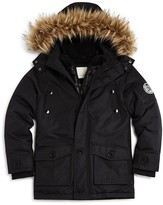 Diesel Boys' Faux Fur Trimmed Parka - Sizes 8-16