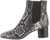 Isabel Marant Embossed Leather Ankle Boots
