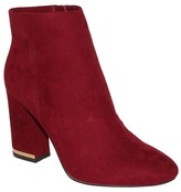 Women's Cora Microsuede Booties - Who What Wear