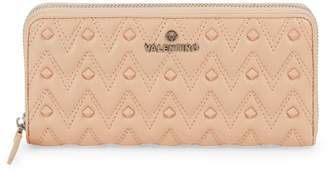Mario Valentino Valentino By Leonardo Rockstud Chevron Leather Continental Wallet