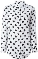 Equipment heart print shirt