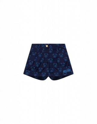 Moschino Teddy Bear All Over Embroidery Shorts