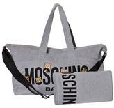 Moschino Kid-Teen Grey Bear Print Changing Bag and Changing Mat