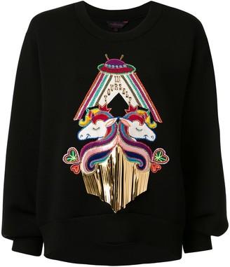 Manish Arora unicorn appliquéd sweatshirt