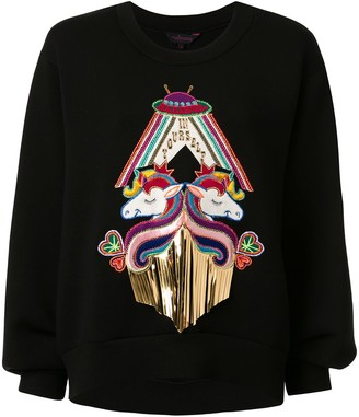 Manish Arora Unicorn Appliqued Sweatshirt
