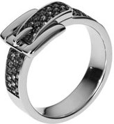 Michael Kors Pave Buckle Ring, Silver Color