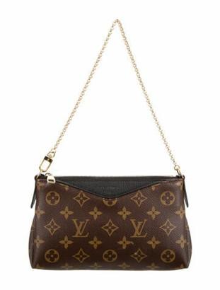 Louis Vuitton Monogram Pallas Clutch Brown