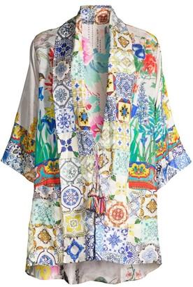 Johnny Was Cassie Reversible Silk Kimono