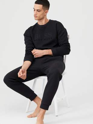 BOSS Contemporary Cuffed Lounge Pants - Black